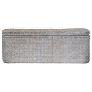 Savannah Rattan Blanket Box, White Wash