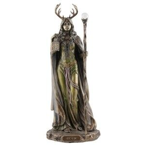 Veronese Cold Cast Bronze Coated Mythology Figurine, Elen of the Ways
