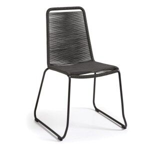 Balliol Stackable Indoor / Outdoor Dining Chair, Charcoal