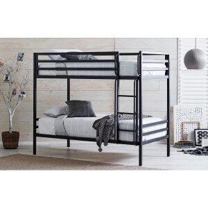 Castle Metal Bunk Bed, King Single, Black