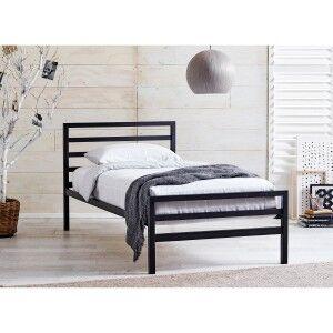Castle Metal Bed, Single, Black