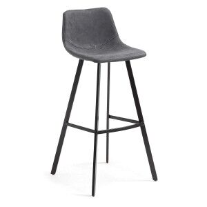 Orsted PU Leather Counter Stool, Graphite