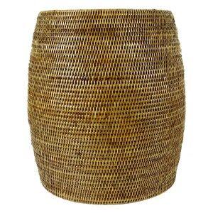 Pindaya Rattan Drum Side Table / Pot, Natural