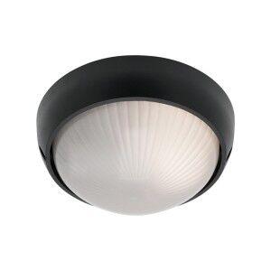 Coogee Small Round Aluminium IP44 Exterior Ceiling/Wall Light - Black