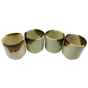 Kino Ceramic Teacup, Set of 4