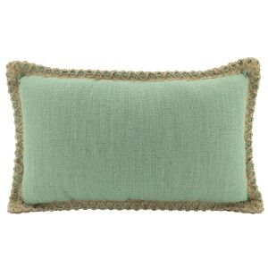 Belrose Linen Lumbar Cushion, Sage