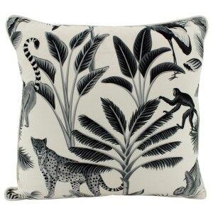 Jungle Play Velvet Scatter Cushion