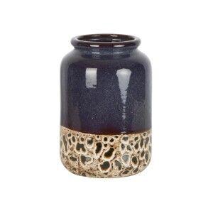 Sabor Ceramic Vase, Navy