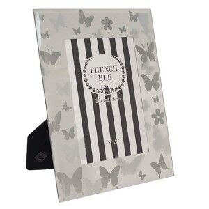 Butterfly Mirrored 5x7 Inch Photo Frame