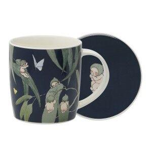 Ecology May Gibbs Gumnut Babies Fine China Mug & Coaster Set, Ink