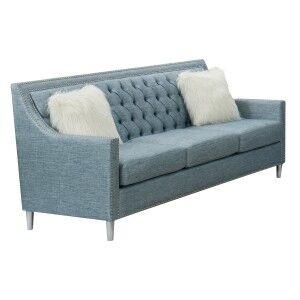 Seville Fabric 3 Seater Sofa