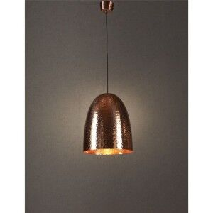 Dolce Hammered Metal Pendant Light, Copper
