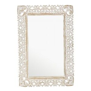 Althea Carved Mango Wood Framed Wall Mirror, 99cm