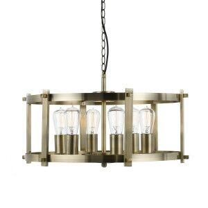 Finley Metal Pendant Light, Large, Antique Brass