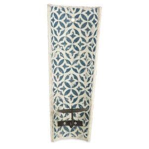Milawa Ceramic Wall Mount Candle Holder, Blue