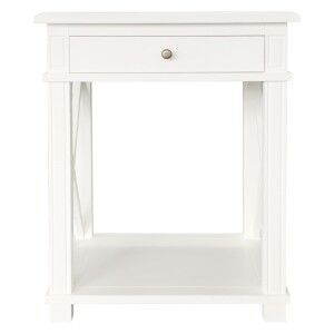 Phyllis Birch Timber Side Table, Large, White