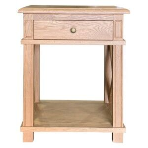 Phyllis Oak Timber Side Table, Small, Natural Oak