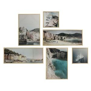 """Italian Holiday"" 6 Piece Framed Canvas Wall Art Gallery"