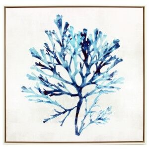 """""""Watercoloured Coral"""" Framed Canvas Wall Art, No.3, 60cm"""