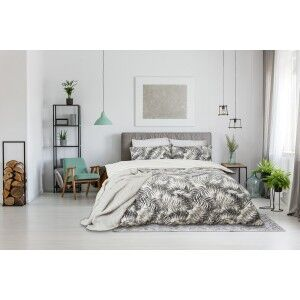 Ardor Ferntree Textured Cotton Quilt Cover Set, Single