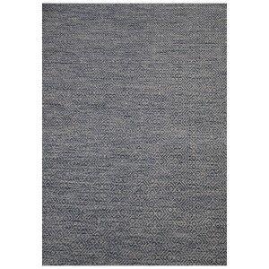 Shinaam Hand Woven Reversible Wool Rug, 300x250cm, Slate / Ivory