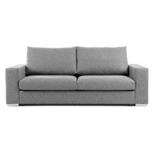 Grande Fabric Sofa, 3 Seater, Light Grey