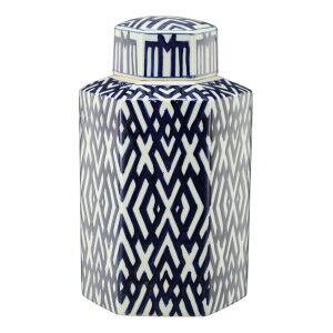 Foulden Porcelain Hexagon Temple Jar