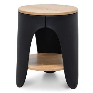 Jacca Round Side Table, Black