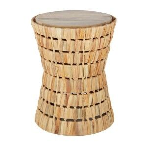 Myla Water Hyacinth Accent Stool / Side Table