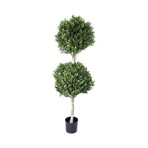 Artificial Boxwood Double Ball Topiary Tree, 110cm