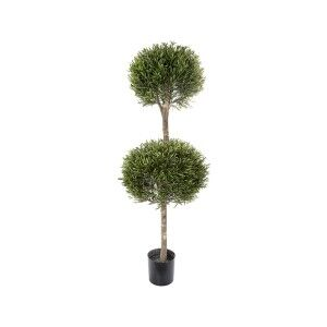 Artificial Lavender Double Ball Topiary Tree, 120cm