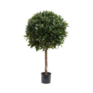 Artificial Laurel Ball Topiary Tree, 110cm