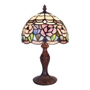 Chandell Tiffany Style Stained Glass Table Lamp, Extra Small