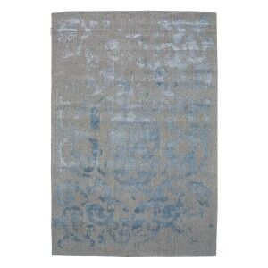 Vienna No.051 Handmade Wool Transitional Rug, 160x110cm, Blue