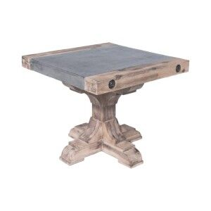 Caribbean Solid Acacia Timber Side Table with Concrete Top