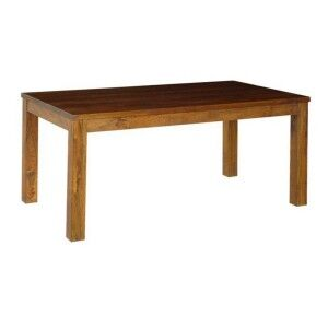 Pluto Solid Mango Wood Timber Dining Table, 210cm, Light Honey