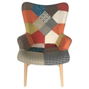 Dalbert Patchwork Fabric Armchair, Multi
