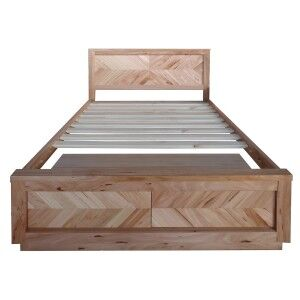Lambton Messmate Timber Bed with End Drawers, King