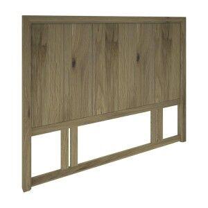 Vikas Oak Timber Bed Headboard, Queen
