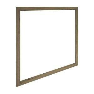 Vikas Oak Timber Frame Square Wall Mirror, 100cm