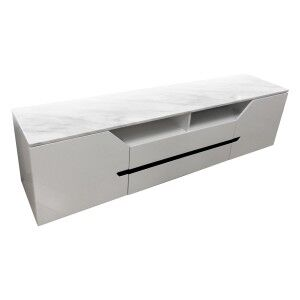 Wallis Marble Topped 2 Door 2 Drawer TV Unit with LED Light, 200cm