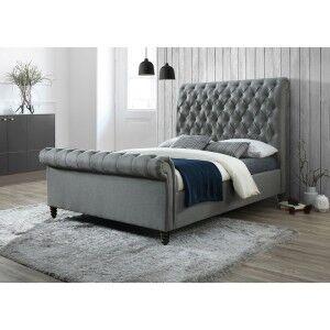 Denholm Fabric Sleigh Bed, Queen