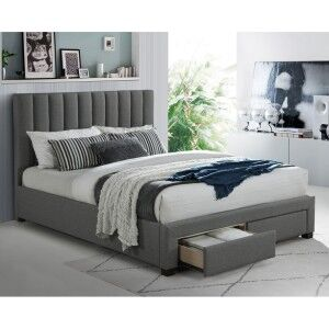 Rothwell Fabric Platform Bed with End Drawers, King