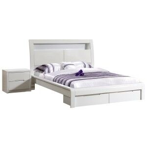 Nicolet Bed with End Drawers, Double