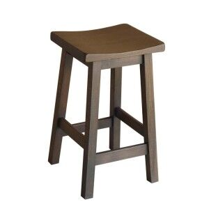 Osaka Solid Mango Wood Counter Stool, Mocha
