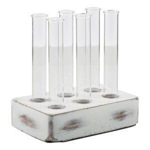 Kona Glass Bud Vase with Concrete Base