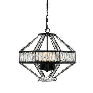 Zofio Metal & Crystal Glass Pendant Light, 56cm