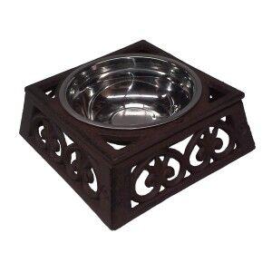 Curra Cast Iron Pet Bowl, Small, Antique Rust
