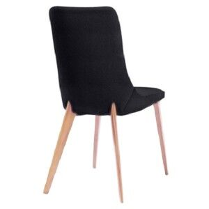 Forza PU Leather Dining Chair, Black / Oak