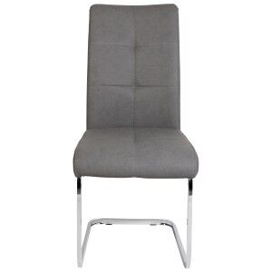 Rex Leather Dining Chair, Graphite
